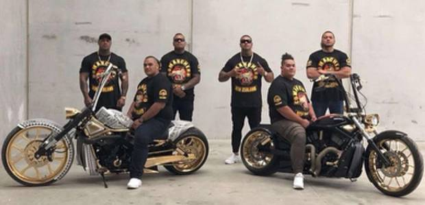 Patched members of the Comanchero announce establishment of New Zealand chapter on Instagram. Photo / Supplied