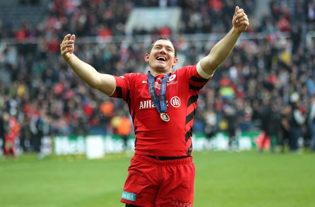Alex Goode guided Saracens to Champions Cup victory. Photo / Getty Images