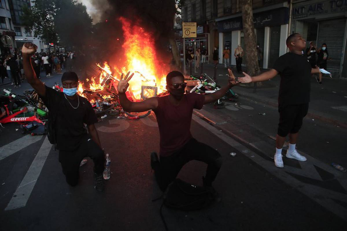 George Floyd protests: Tensions mar Paris protest as Floyd outrage goes global