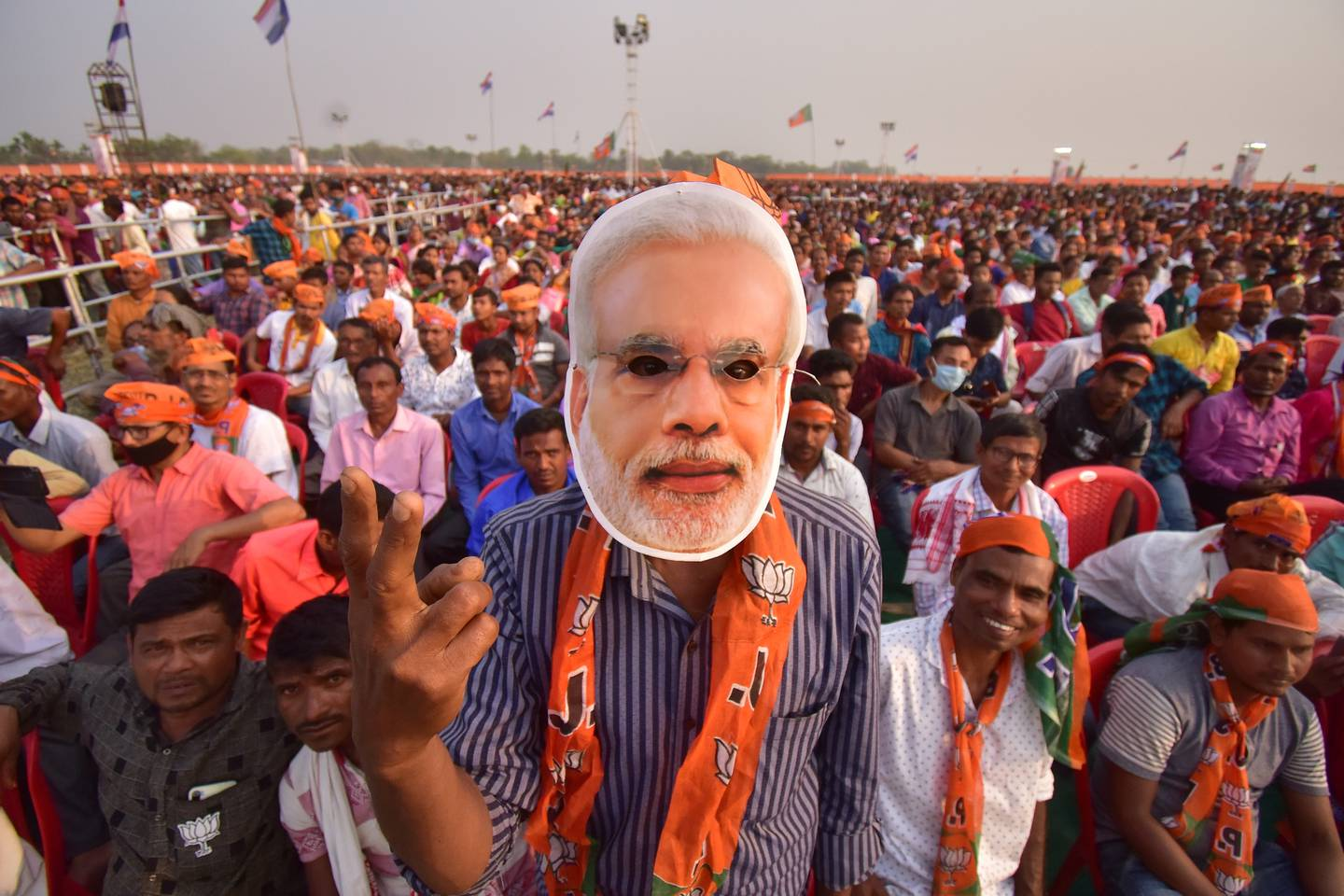 Critics say proponents of Hindutva have been emboldened by Indian Prime Minister Narendra Modi's Bharatiya Janata Party (BJP) government. Photo / Getty Images