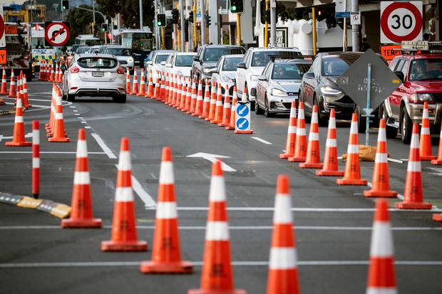 Auckland is earning the nickname 'City of Cones'. Photo / Herald