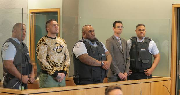 Tyson Daniels - who is second-in-command of the gang's Auckland chapter - and Andrew Simpson, a lawyer, were sentenced in the High Court at Auckland this morning. Photo / Michael Craig