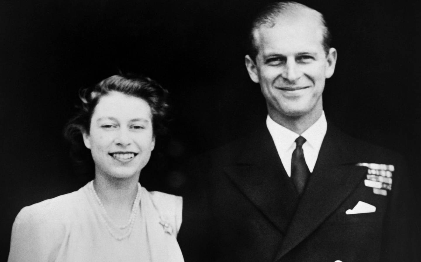 Princess Elizabeth and Philip of Greece on their engagement in 1947.