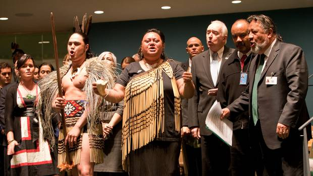 New Zealanders celebrate the endorsement of the United Nations Declaration on the Rights of Indigenous Peoples in New York in 2010. Photo / United Nations