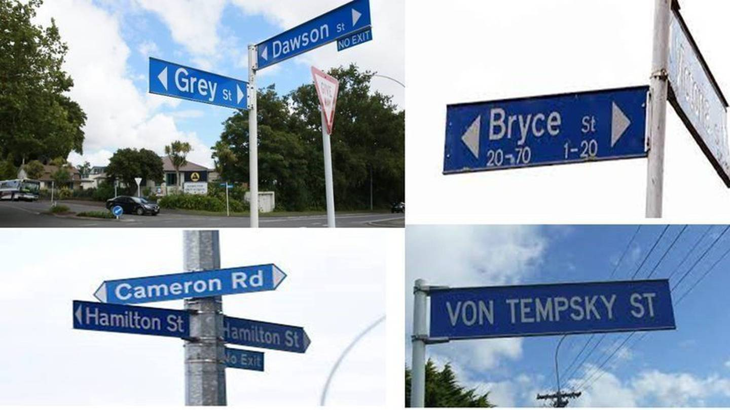The petition seeks to change street names with a colonial history. Photo / Supplied