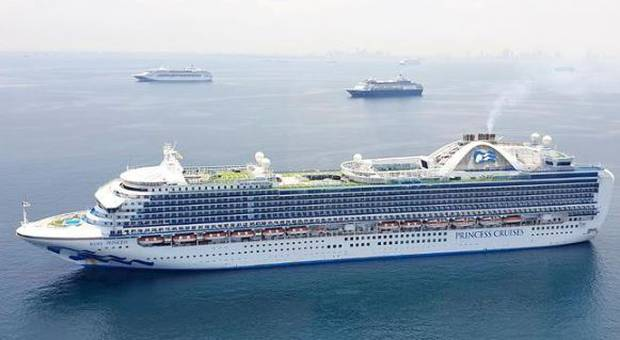 The Ruby Princess has been in Manila Bay since it sailed from Port Kembla in April. Photo / Supplied