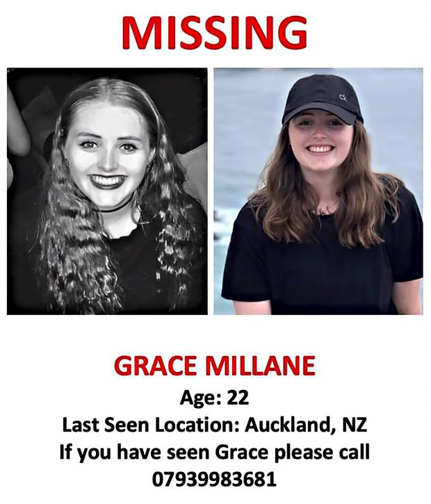 A post put out by Grace Millane's brother Michael, after she failed to respond to their messages. Photo / Supplied