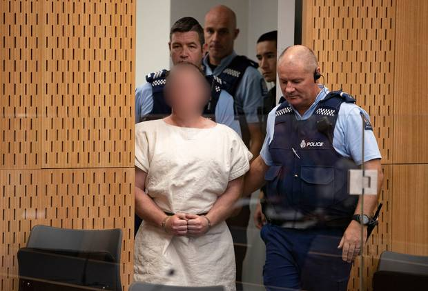 Brenton Tarrant in the Christchurch District Court. Photo / Mark Mitchell