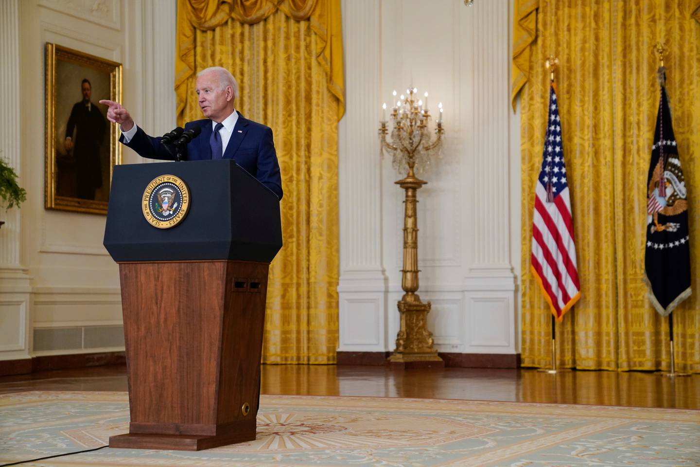 President Joe Biden vowed the United States will 'hunt down' the terrorists responsible for two attacks outside Kabul International Airport in Afghanistan and 'make them pay.' Photo / AP