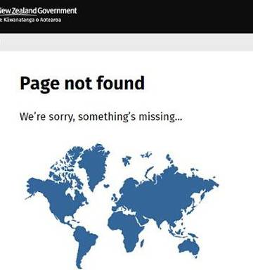 New Zealand Map In World.We Re Sorry Something S Missing New Zealand Government S