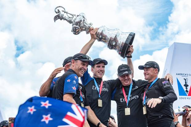 Burling was instrumental in New Zealand reclaiming the Auld Mug in Bermuda. Photo / Photosport