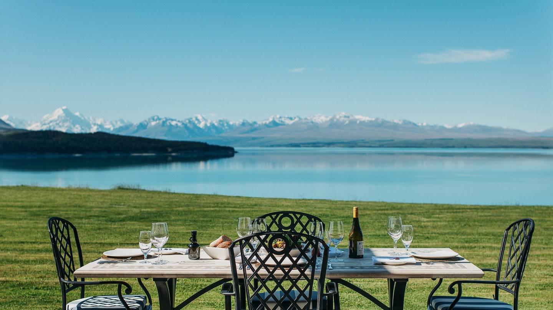 Limitless views over Lake Pukaki from the Ashley Mackenzie Villa. Photo / Supplied