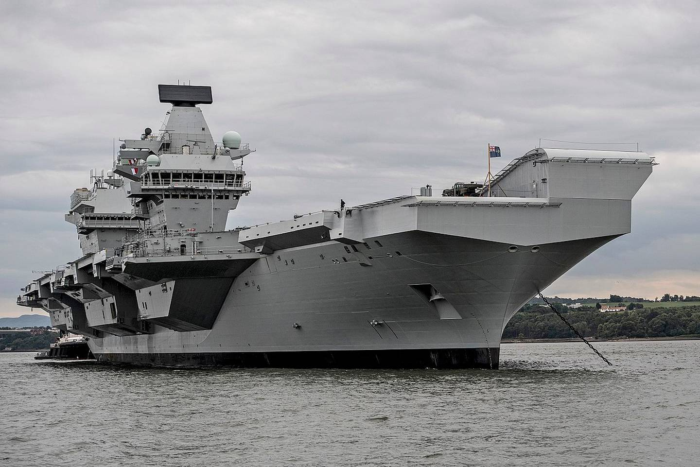 The British aircraft carrier Queen Elizabeth II which is currently in Asia on its maiden voyage. Photo / Royal Navy