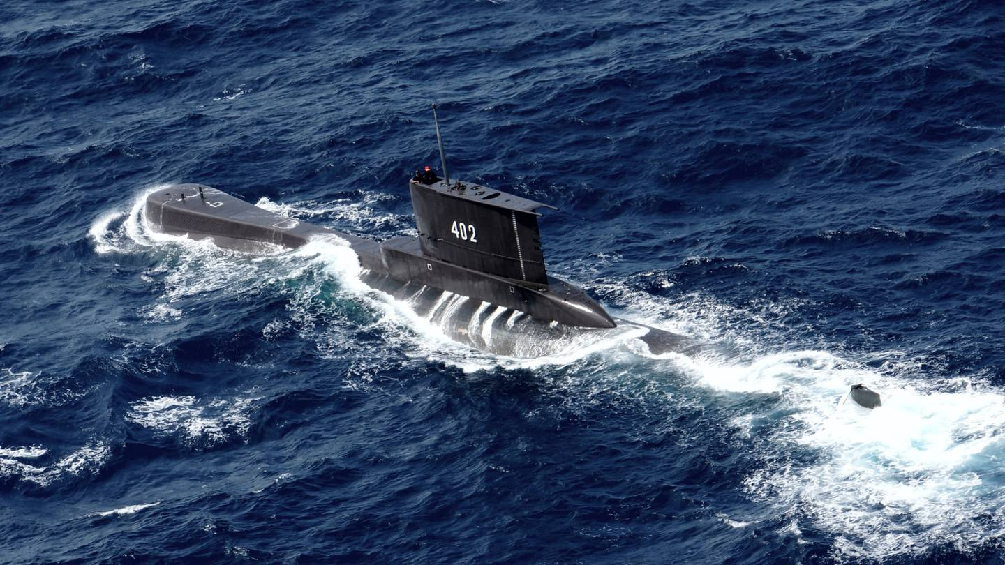 The KRI Nanggala submarine is believed to have disappeared in waters about 95km north of Bali. Photo / AP