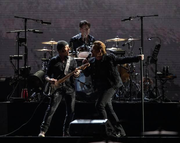 U2 perform at Mt Smart Stadium, Auckland U2 as part of the Joshua Tree Tour. Photo / Greg Bowker Visuals