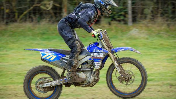 Whanganui's Seth Reardon (Yamaha YZ250FX) continues to lead the New Zealand Enduro Championships after five rounds. Photo by Andy McGechan, BikesportNZ.com