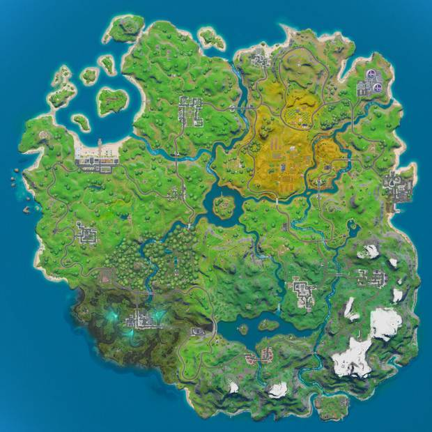 The new map on the latest version of Fortnite. Image / Epic Games