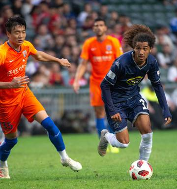 Football Auckland City Fc Push Mega Rich Shandong Luneng To