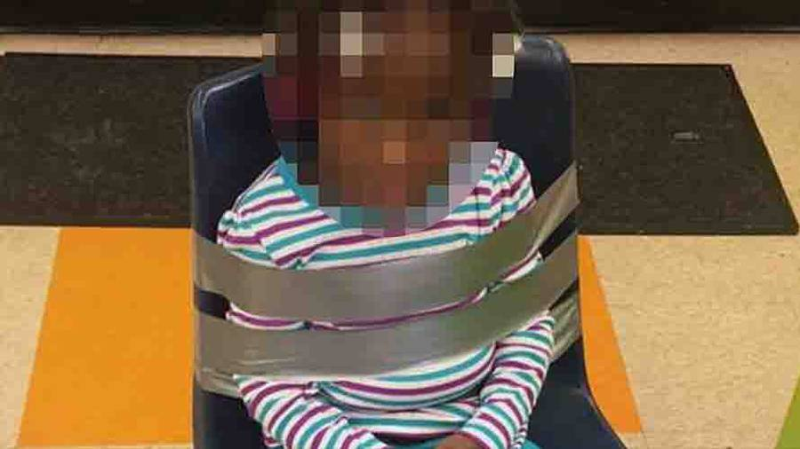 4-year-old duct taped to chair at daycare