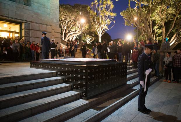 Wellington's Pukeahu War National Memorial Park will host services through the day. Photo / Mark Mitchell