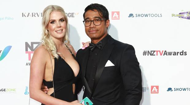 Lizz Sadler and Pua Magasiva at The New Zealand Television Awards at SkyCity in late 2017. Photo / Norrie Montgomery