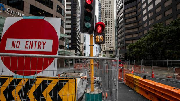 Auckland Transport will reopen 160 worksites and get 2500 workers back on the job next week. Photo / Michael Craig