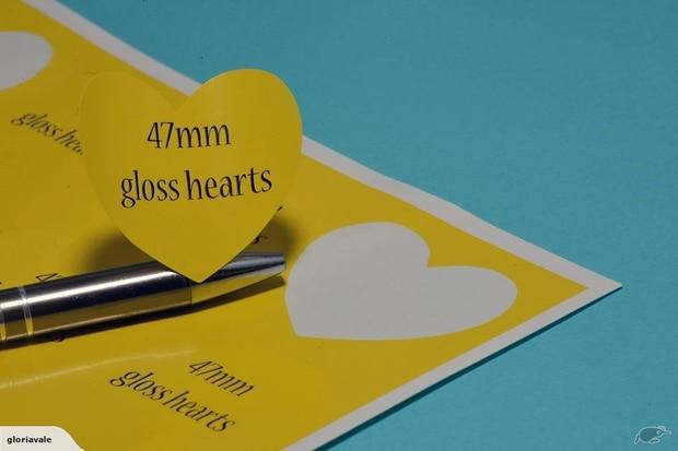 Precut 47mm heart shapes. Photo / Trade Me