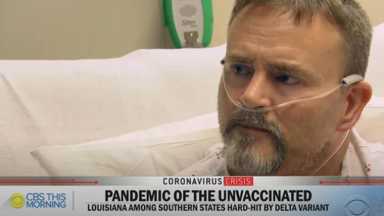 Covid patient Scott Roe. Photo / CBS News