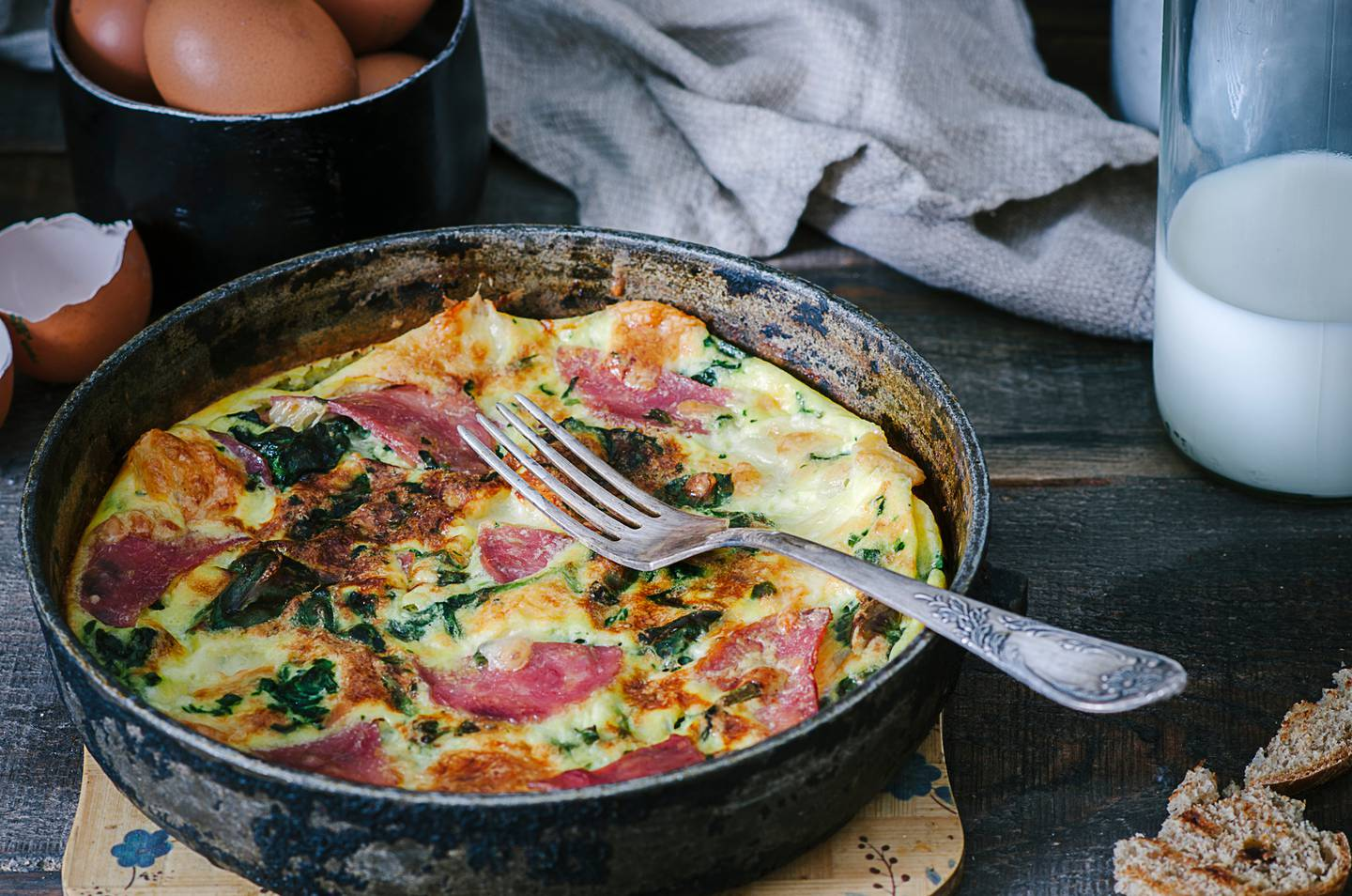 Recreate a cafe-style Father's Day lunch at home with this frittata. Photo / Getty Images
