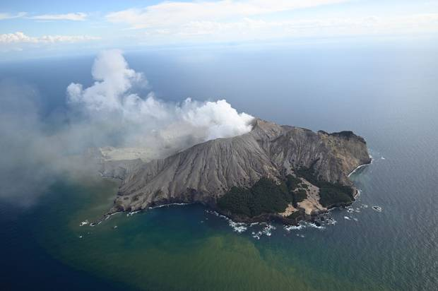 White Island, as it appeared after the eruption. Photo / George Novak
