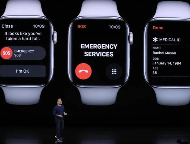 The new Series 5 Apple Watch.