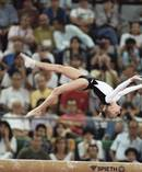 Tatiana Gutsu on her way to the all-round gold in Barcelona in 1992. Photo / AP