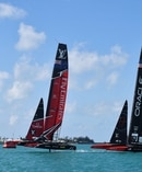 TVNZ says it will actively work to secure broadcast rights to the next America's Cup series. Sky TV says it hasn't made its mind up yet. Photo / AP