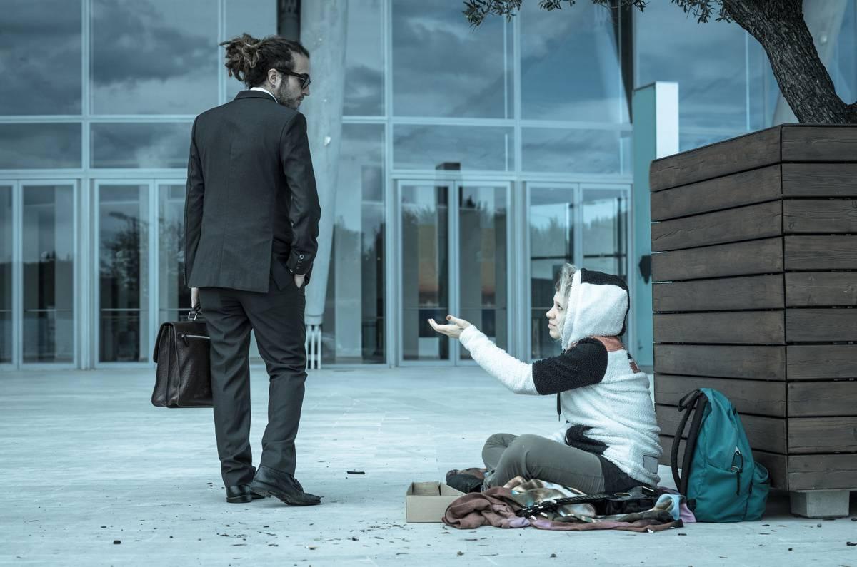 a homeless concept