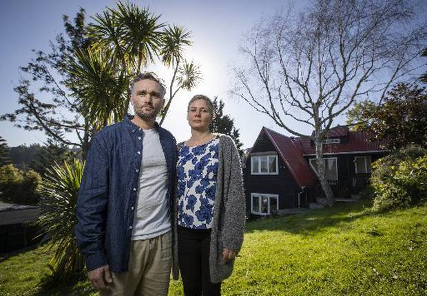 Malcolm and Johanna said Pacific Decontamination Services Ltd left their home partially covered in a storm leading to severe leaks. Photo / Greg Bowker