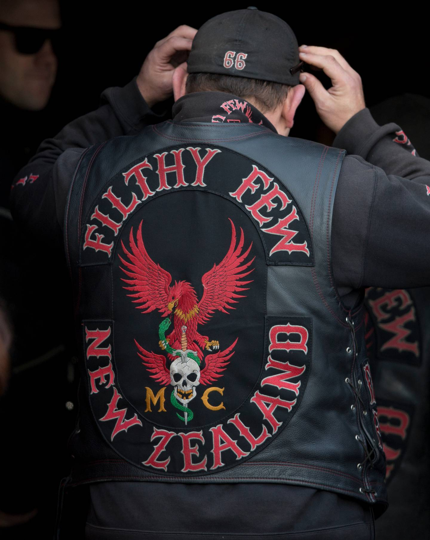 The Filthy Few gang patch. Photo / NZH