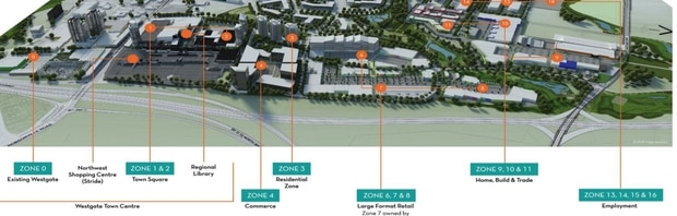 Plans for Westgate at Massey on the city's north-west fringes.