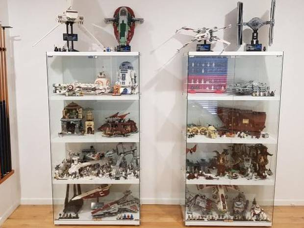 Some of Mr Mangleson's most prized Lego figures on display. Photo / Supplied