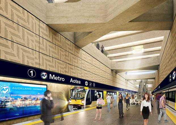 Artist's impression of CRL's Aotea Station's interior. Photo / Supplied