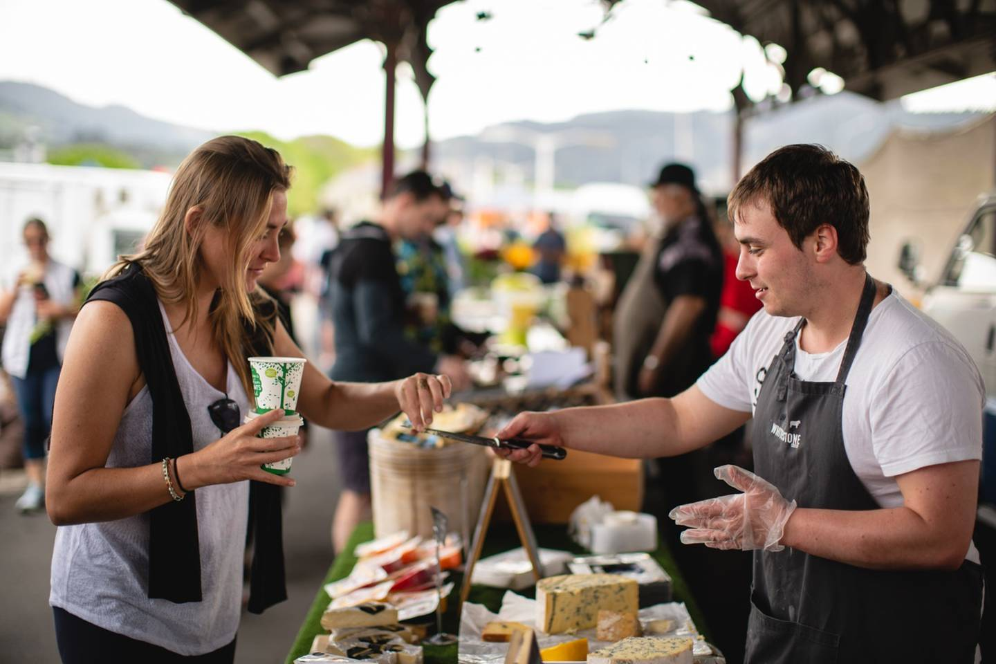 Roll with it: Cheese comes in a variety of guieses at the Dunedin Otago Farmers' Market. Photo / Supplied, Dunedin NZ