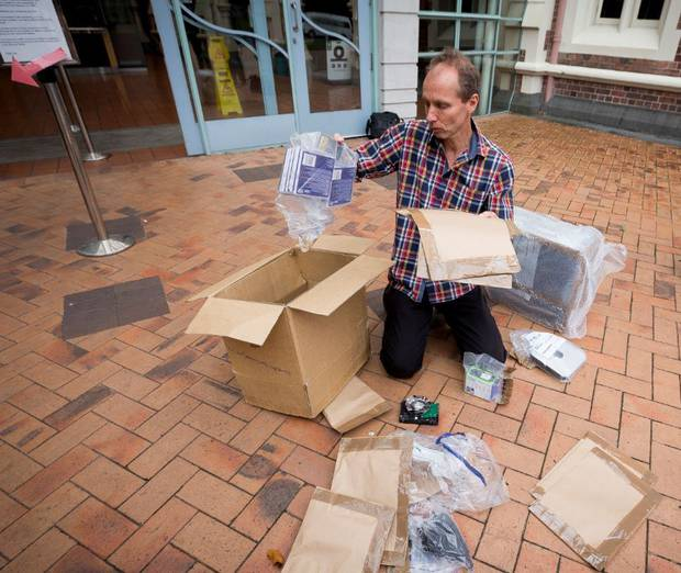 Nicky Hager at the High Court at Auckland where he won the right to have material seized from his house returned, sealed and not examined by police.