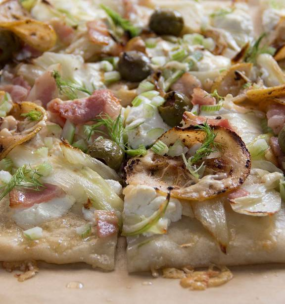 Buffalo Mozzarella Cheese Bacon And Fennel Pizza Nz Herald