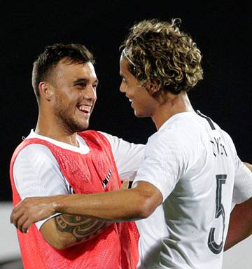 Football: All Whites beat India with late goal, on verge of