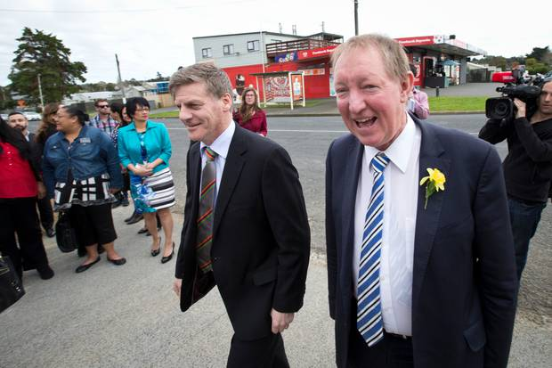 National's electoral matters spokesman Nick Smith, right, with former leader Bill English. Photo / Jason Oxenham