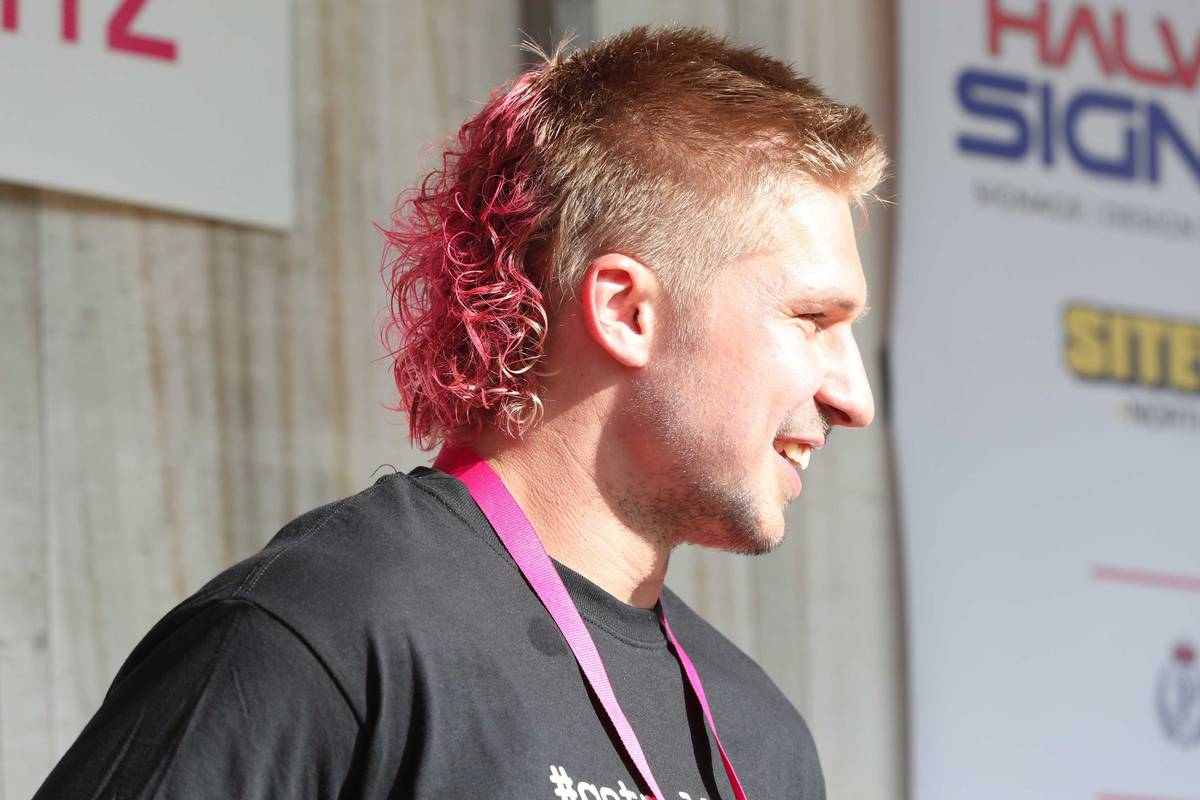 All Black Jack Goodhue S Mullet Dyed Pink And Permed At Mullet In The Park Nz Herald