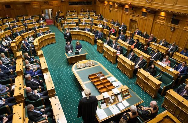 The debating chamber at Parliament, Wellington. Photo / Mark Mitchell