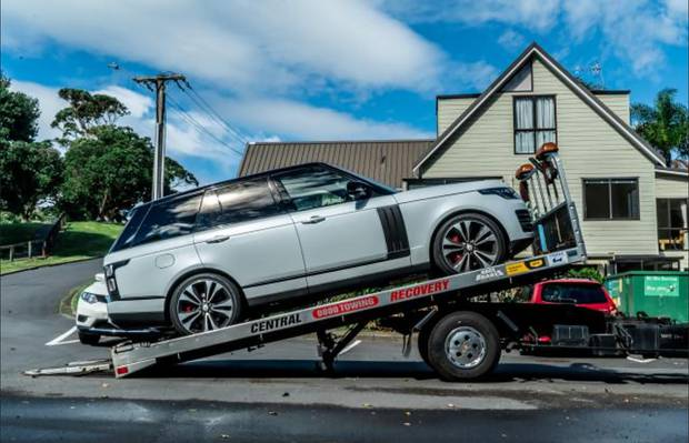 One of the Range Rovers seized in Operation Nova. Photo / Police
