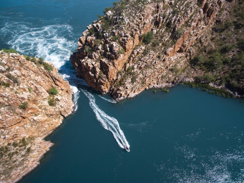 Horizontal Falls, Talbot Bay. Photo / Tourism Western Australia