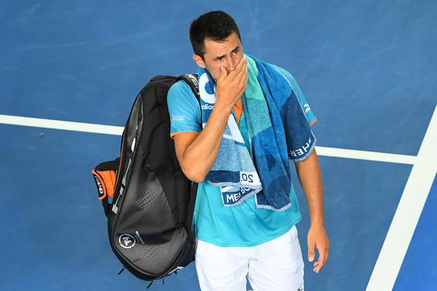 Bernard Tomic dropped a bombshell after being eliminated in the first round. Photo / Getty