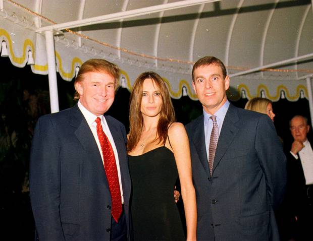 The whole gang's here! Donald Trump, Melania Trump and Prince Andrew at the Mar-a-Lago estate, Palm Beach, Florida. Photo / Supplied